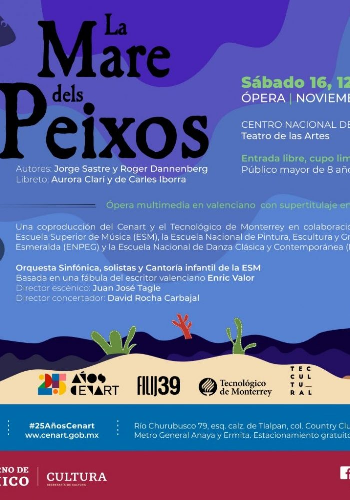 Poster from the November 2019 production in Mexico City.