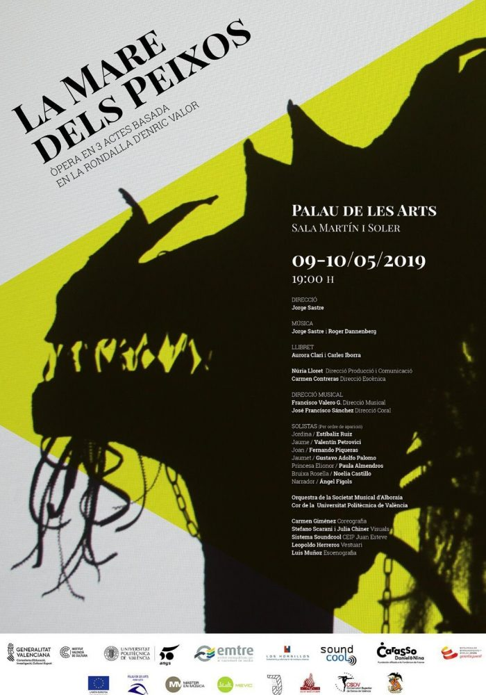 Poster from the spring 2019 production in Valencia, Spain.
